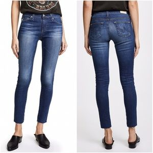 AG The Legging Super Skinny Ankle Raw Hem Jeans 24